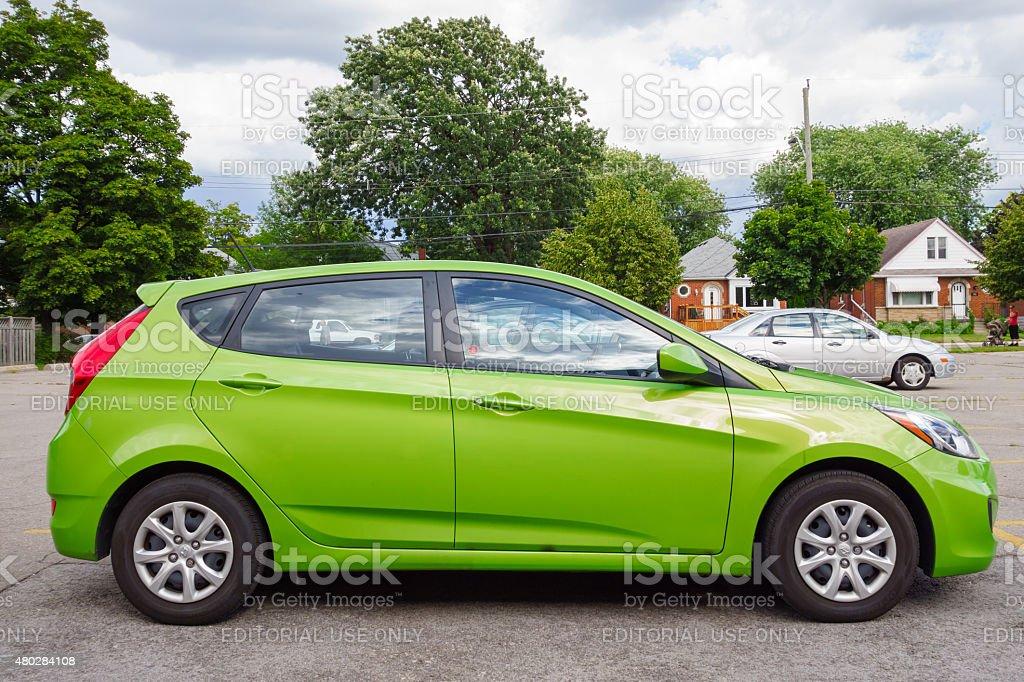 Hyundai Accent Hatchback stock photo