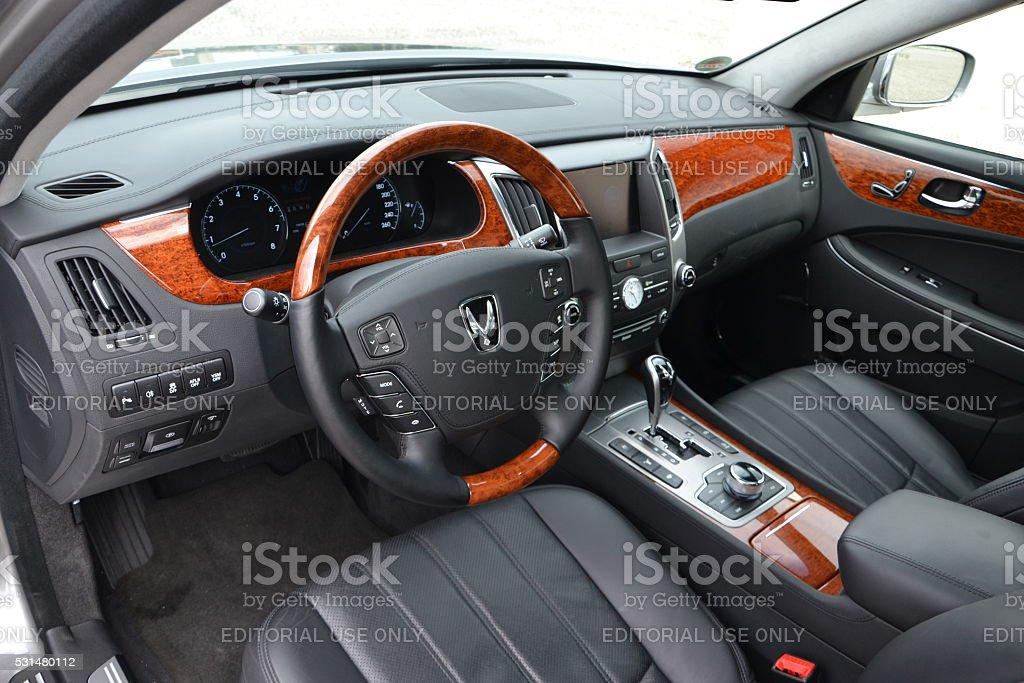 Hyundai Equus interior stock photo