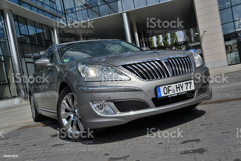 Hyundai Equus on the street stock photo