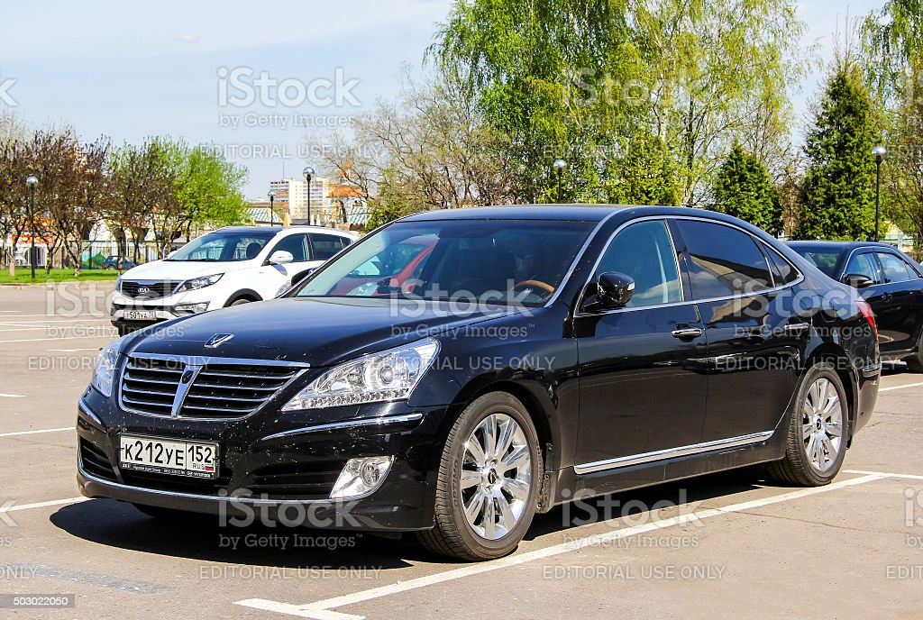Hyundai Equus stock photo