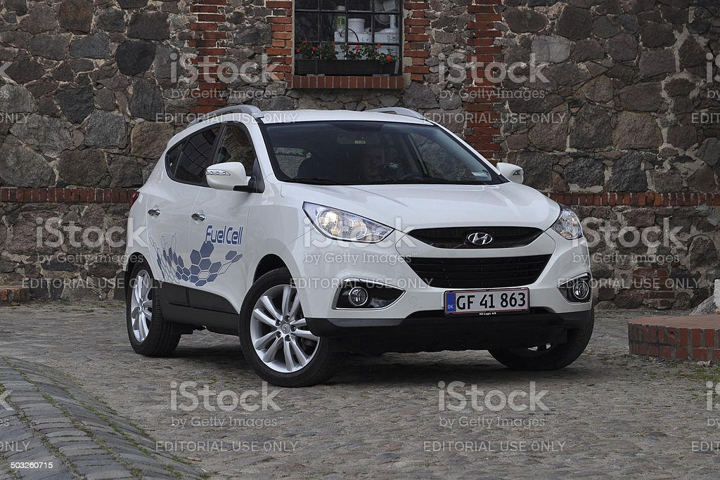 Hyundai ix35 Fuel Cell - car powered by hydrogen stock photo
