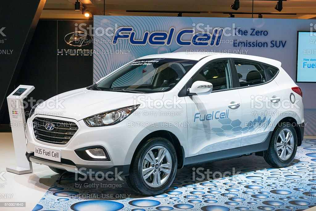 Hyundai ix35 Fuel Cell crossover SUV stock photo