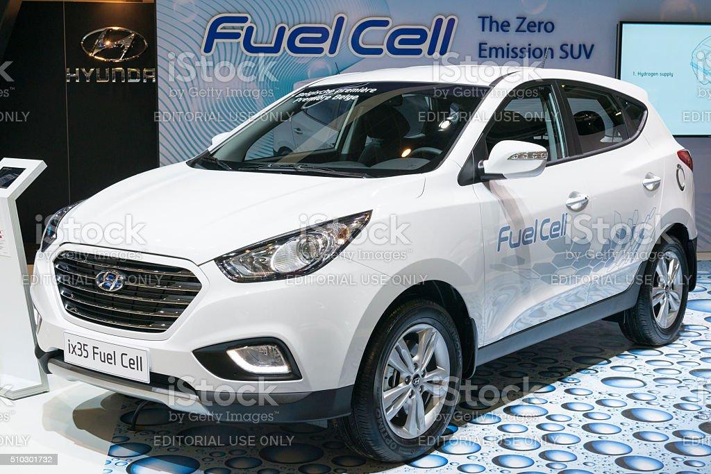 Hyundai ix35 Fuel Cell crossover SUV stock photo