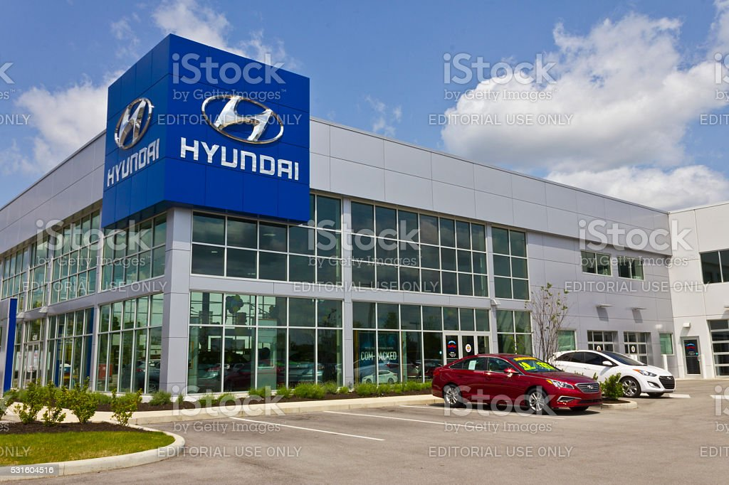 Indianapolis - May 2016: Hyundai Motor Company Dealership III stock photo