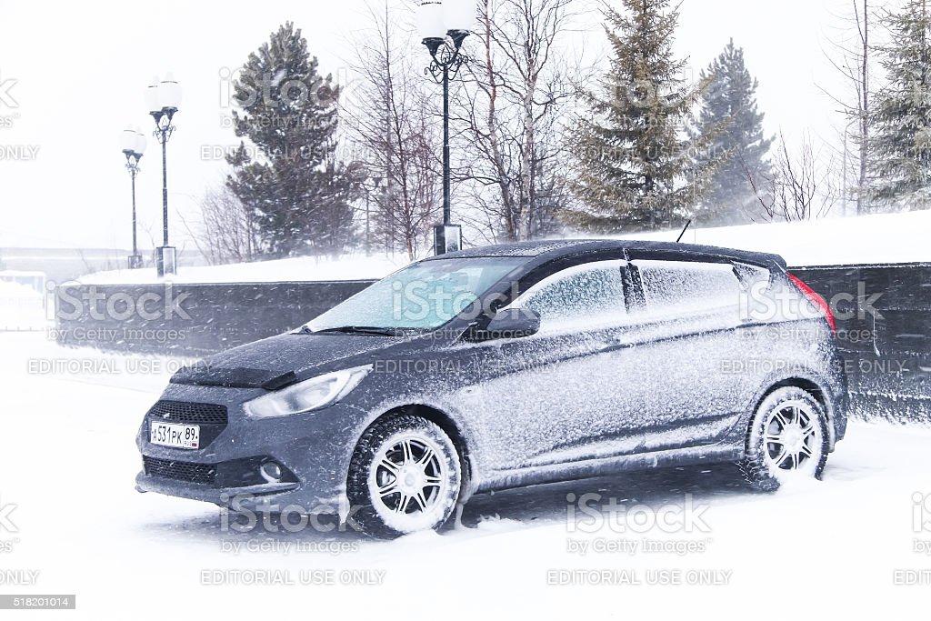 Hyundai Solaris stock photo