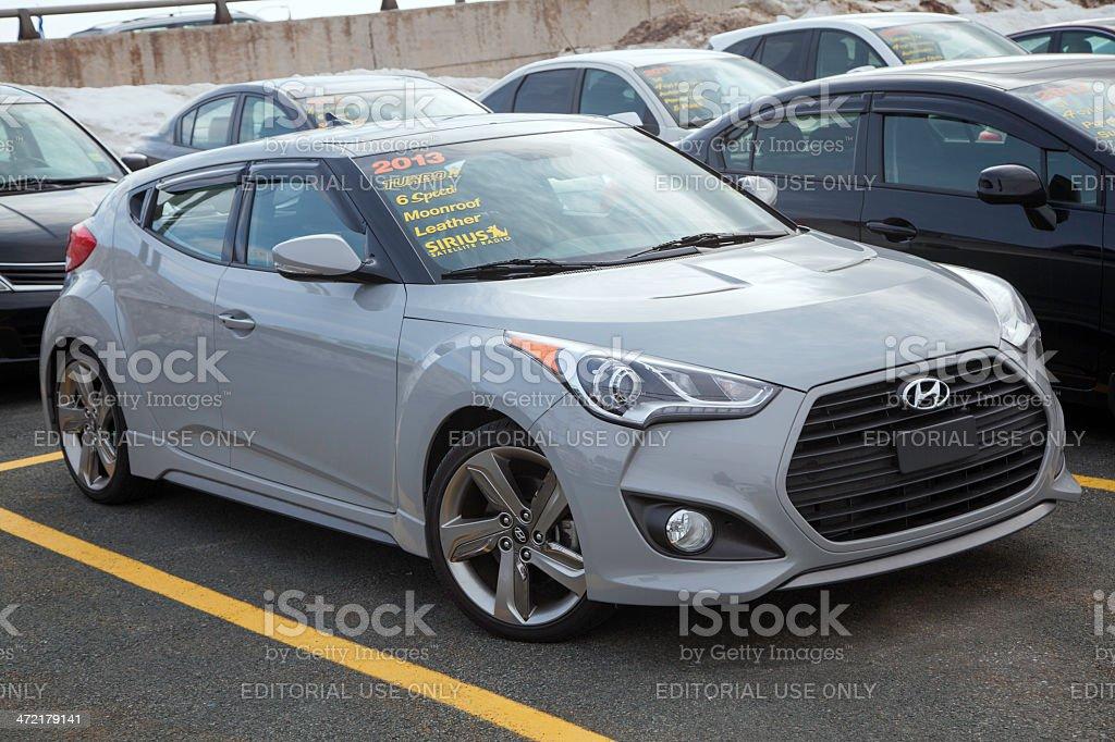 Hyundai Veloster Turbo royalty-free stock photo