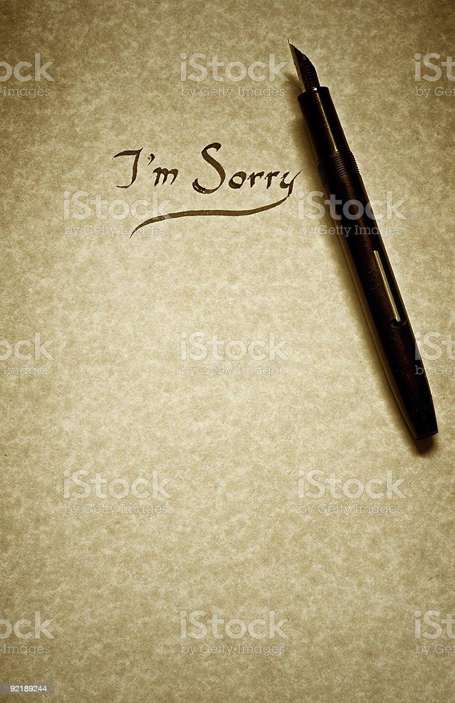 i am sorry royalty-free stock photo