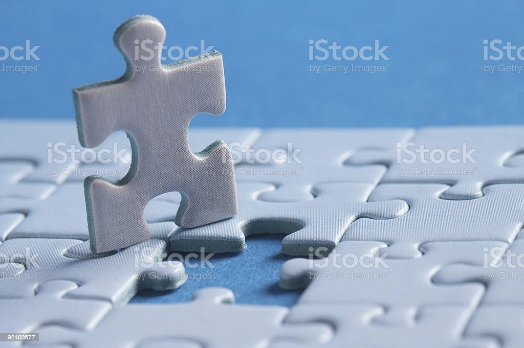 i belong in - piece of a jigsaw puzzle royalty-free stock photo
