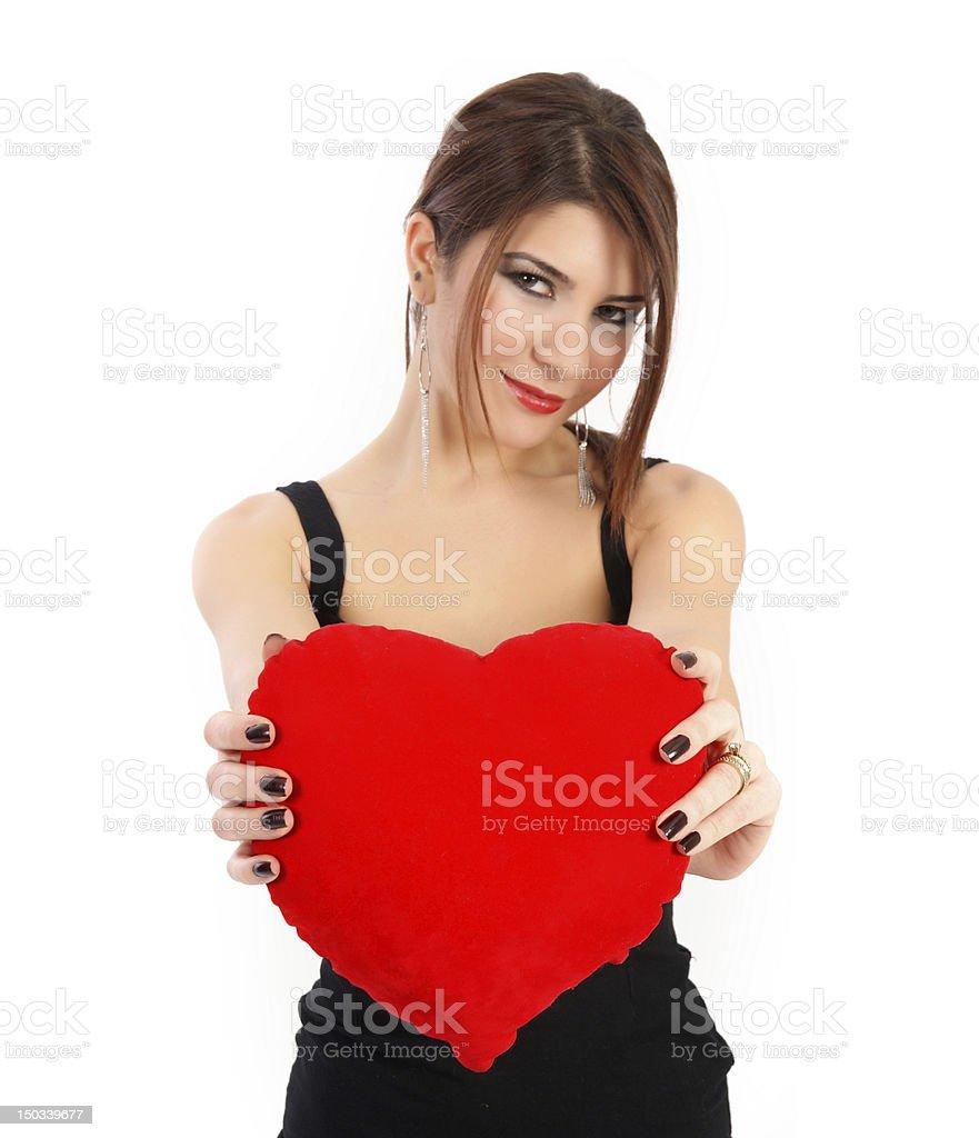 i give my heart royalty-free stock photo