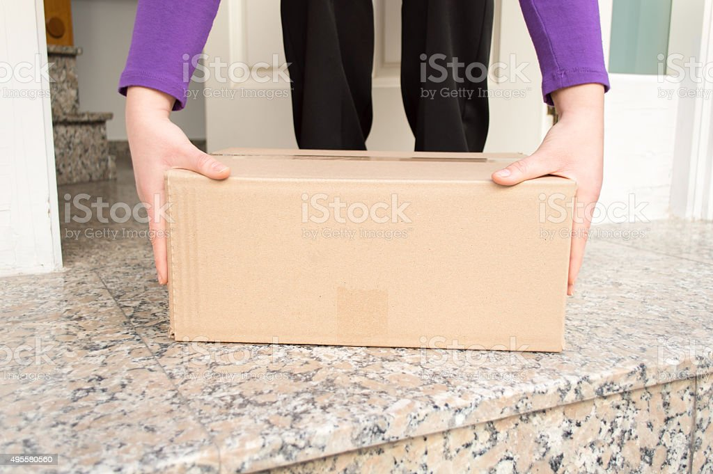i have received my postal packet stock photo