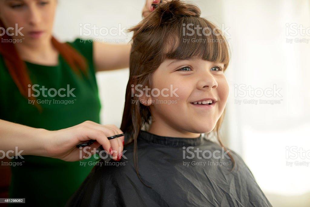i like my new haircut stock photo