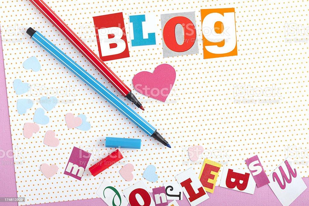 i love blogging royalty-free stock photo