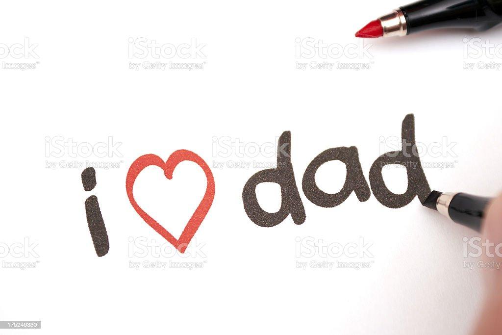 i love dad royalty-free stock photo