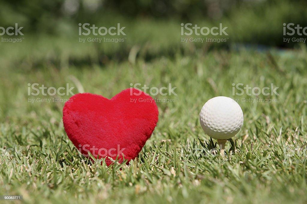 i love golf stock photo