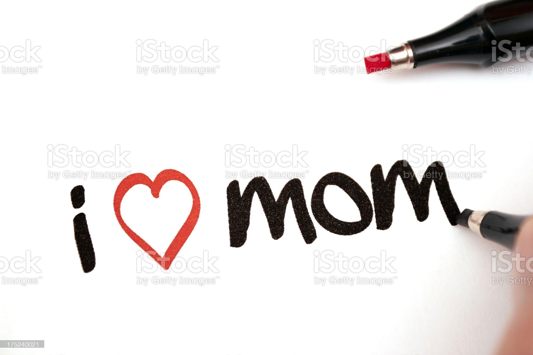 i love mom royalty-free stock photo