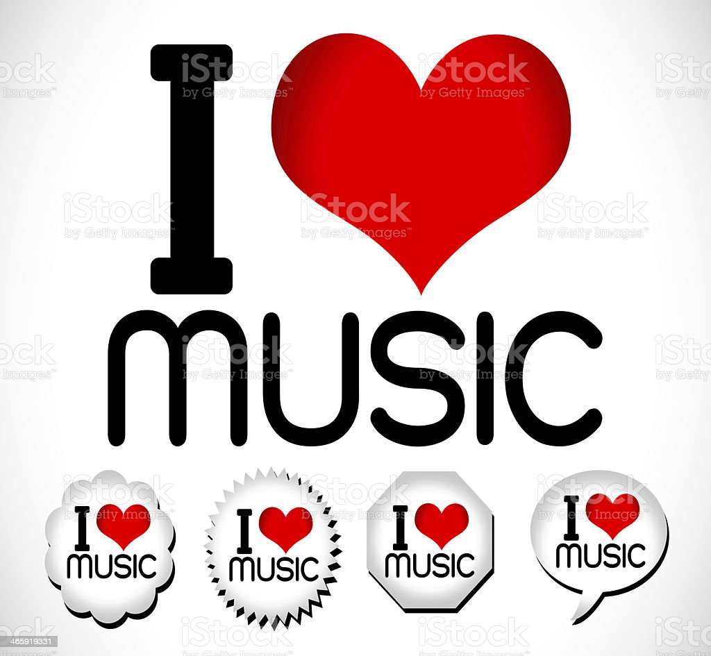 i love music stock photo