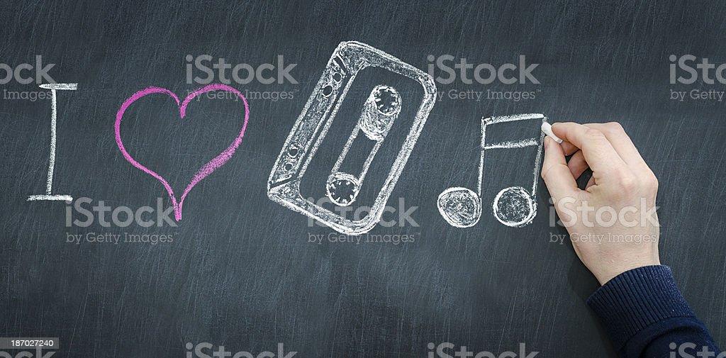 i love pop music stock photo