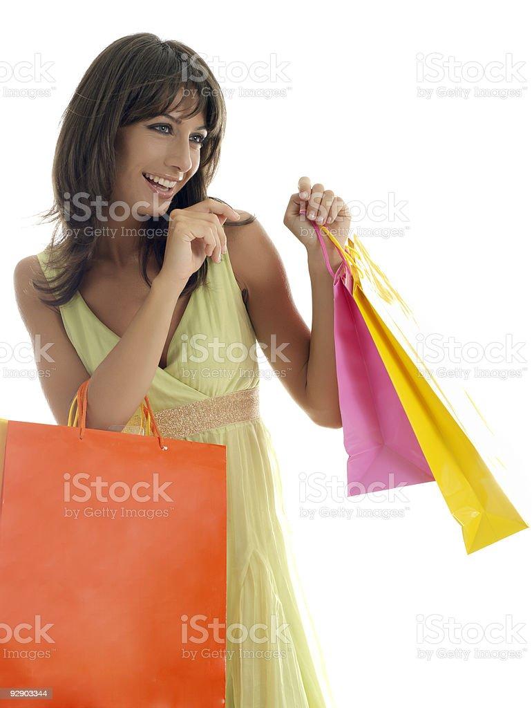i love shopping. stock photo