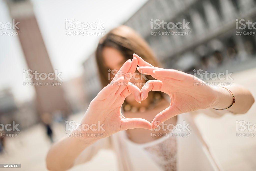i love venice stock photo