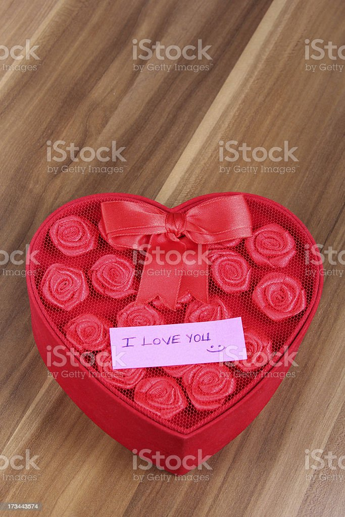 i love you note and special gift royalty-free stock photo
