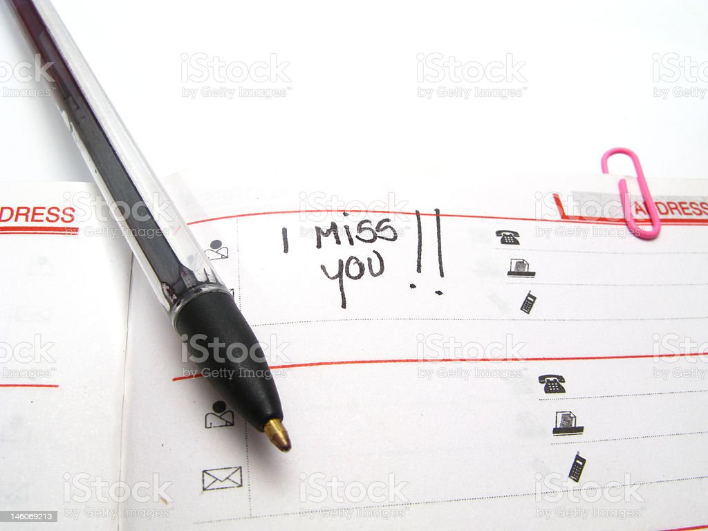 i miss you!!! royalty-free stock photo