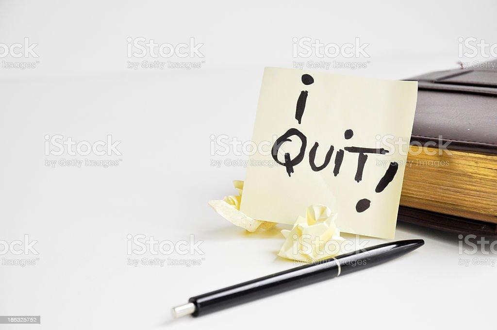 i quit my job stock photo