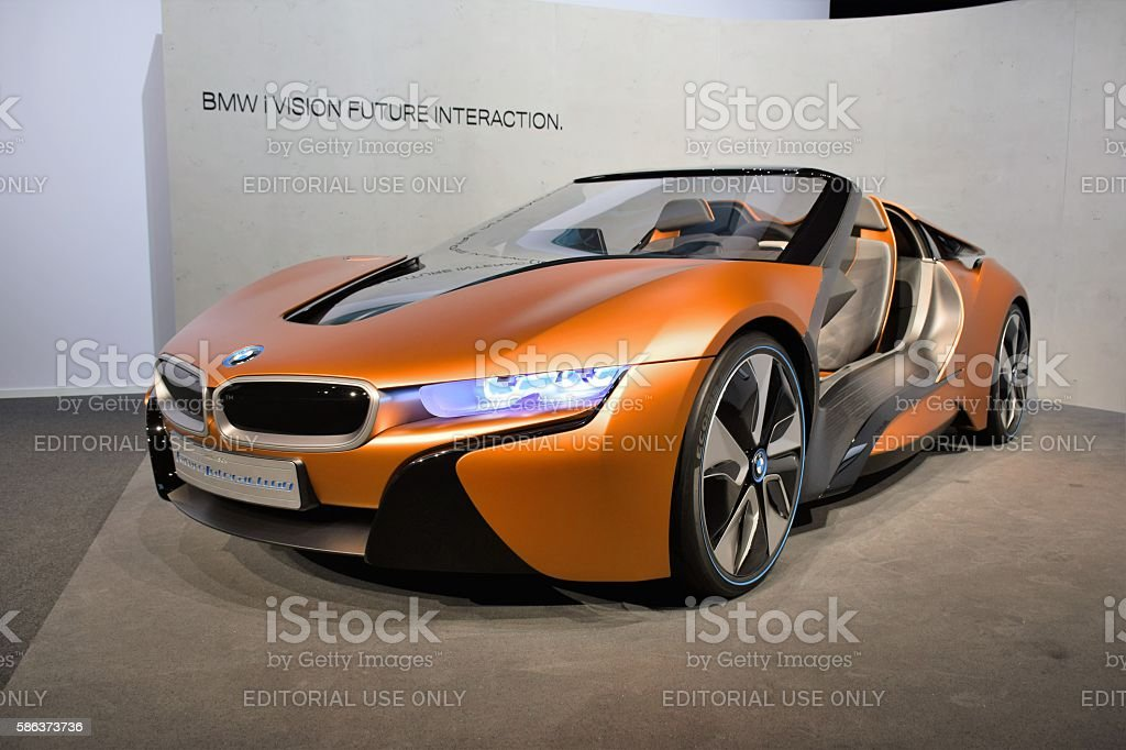 BMW i Vision Future Interaction on statical presentation stock photo