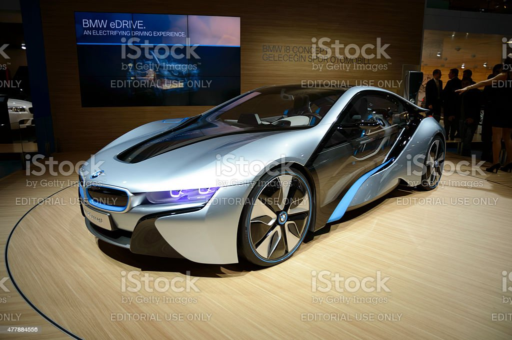 BMW i8 Vision Efficient Dynamics, Hybrid Car stock photo