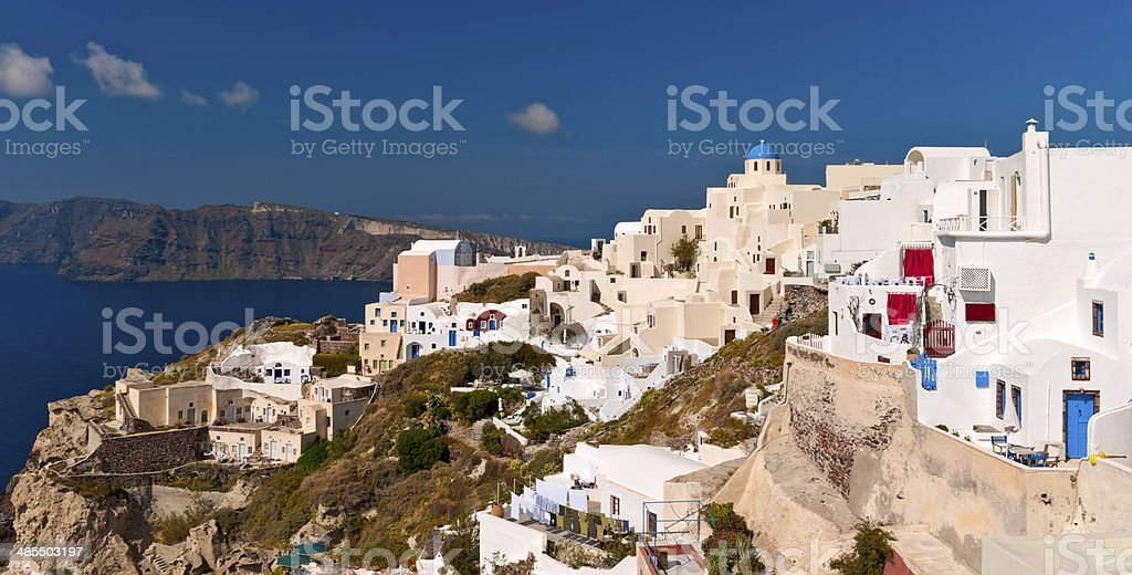 Ia, Santorini island stock photo