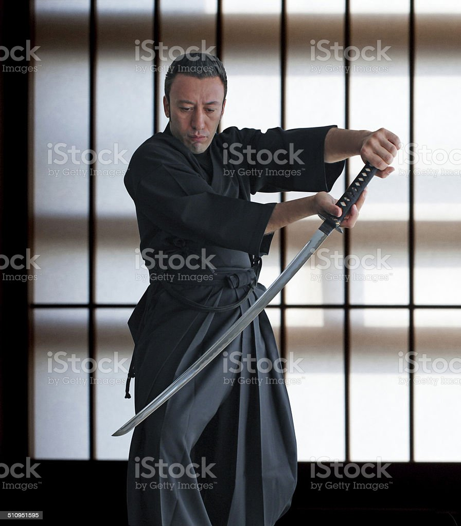 Iaido Sword Techniques stock photo