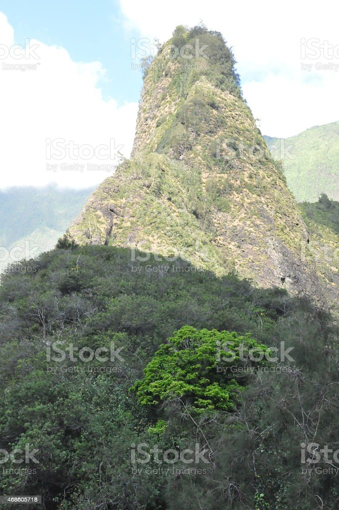 Iao Valley State Park in Maui, Hawaii stock photo