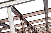 I-Beam steel construction, isolated on white background