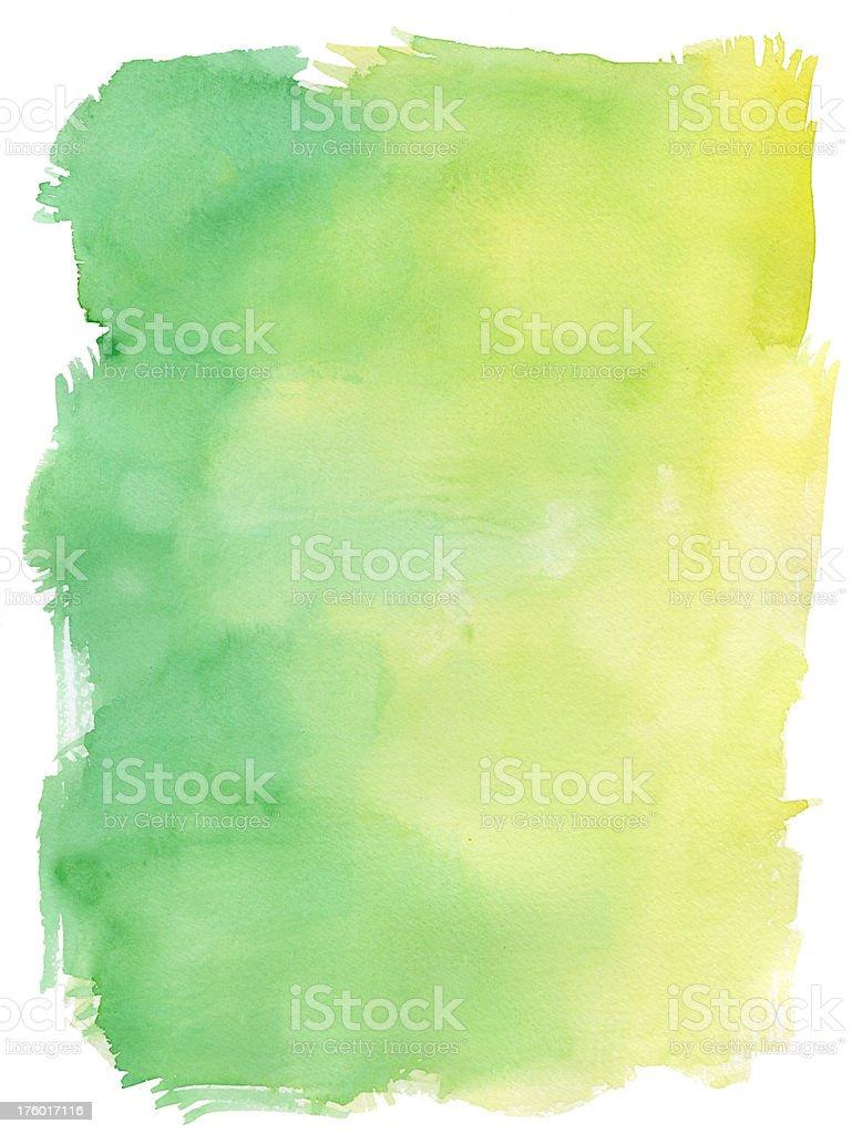 Ibera Green Watercolour royalty-free stock photo