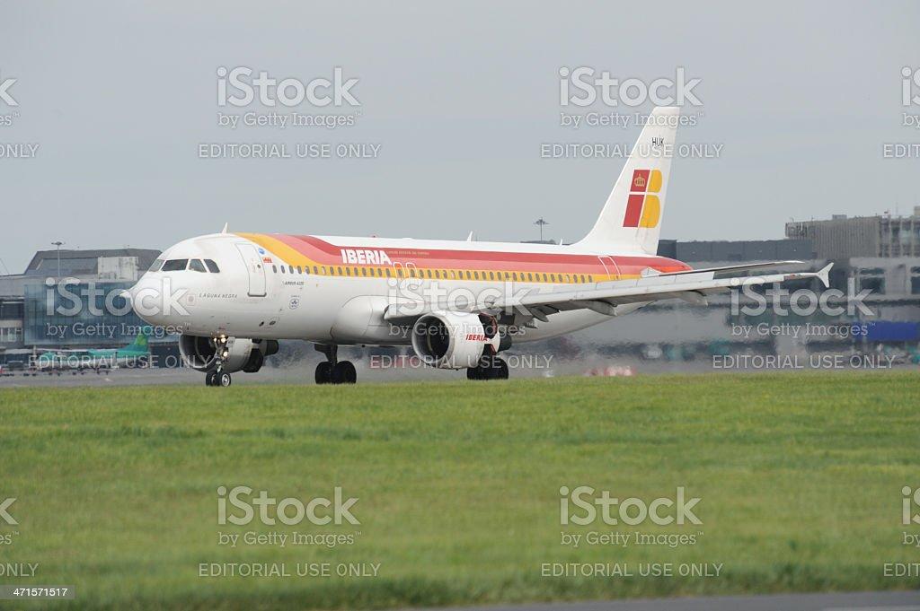 Iberia Airbus A320 royalty-free stock photo