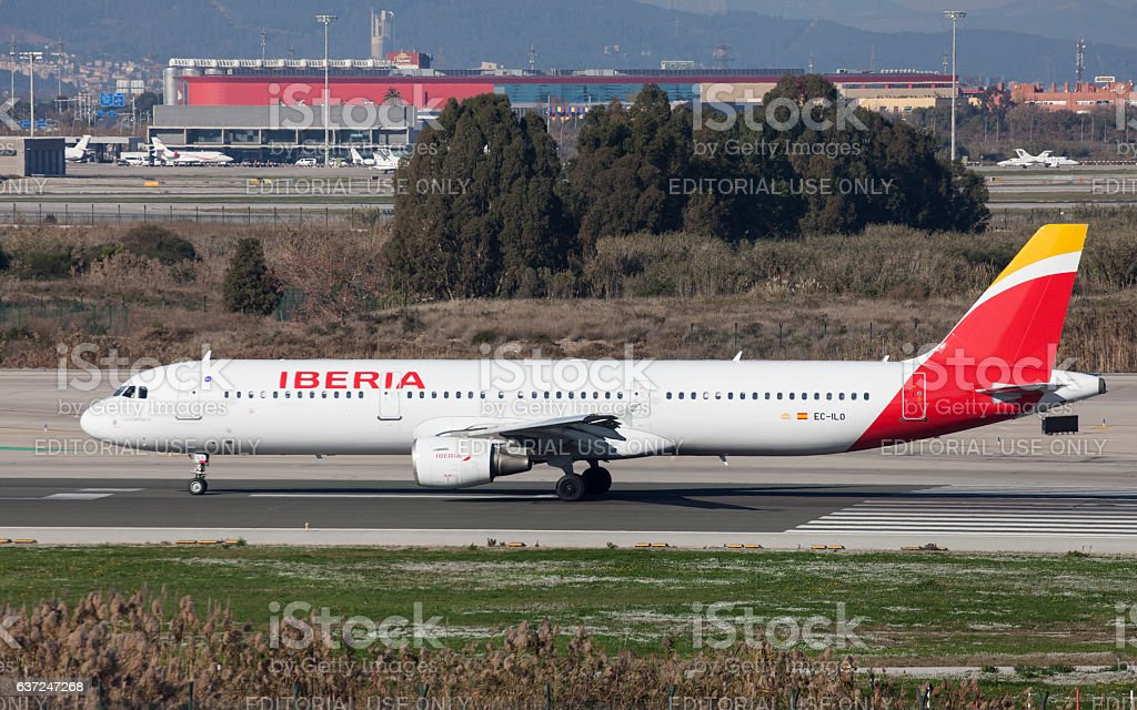 Iberia Airbus A321 Taxiing stock photo