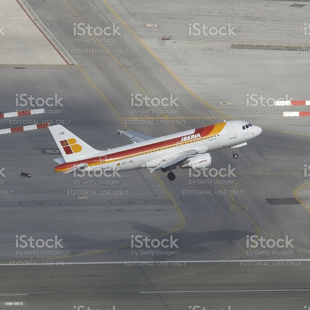 Iberia Plane Taking Off royalty-free stock photo