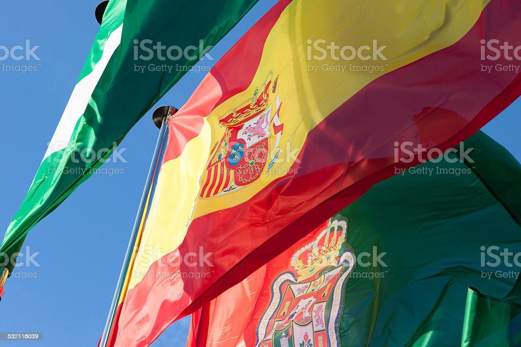 Iberian Flags stock photo