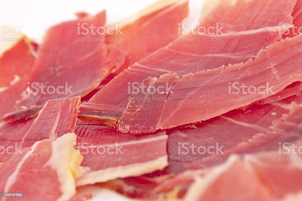 Iberian Ham stock photo