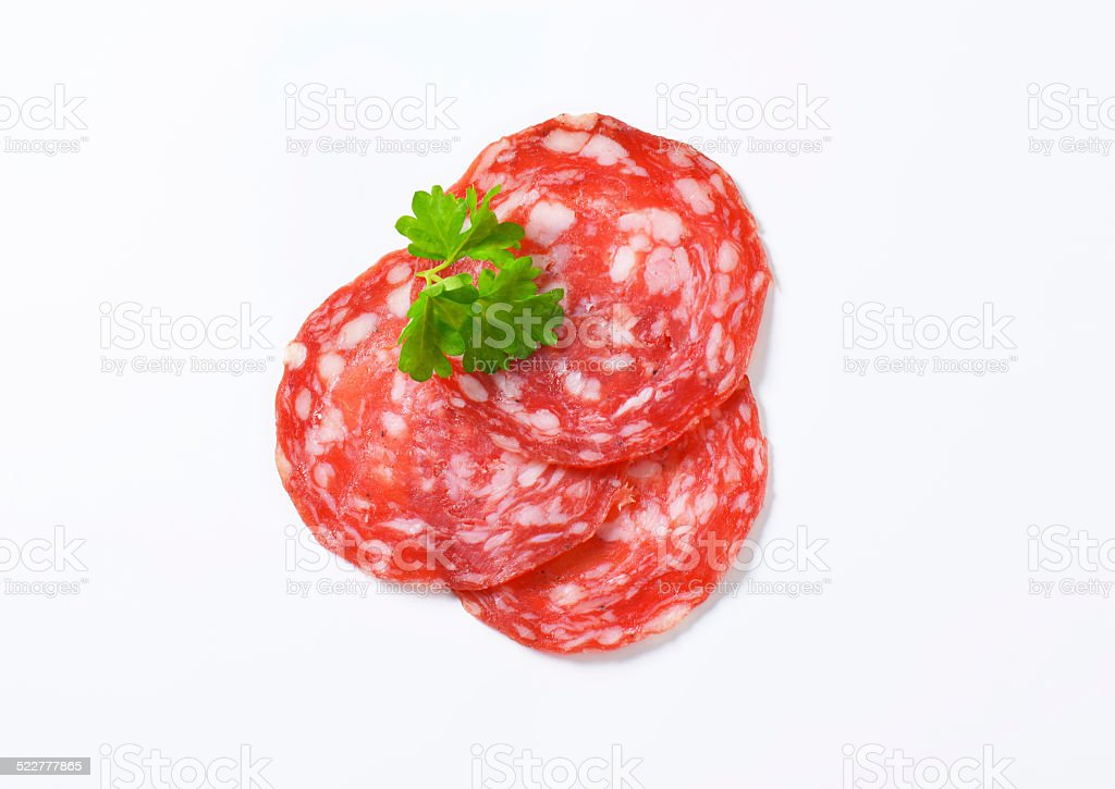 Iberian salchichon stock photo