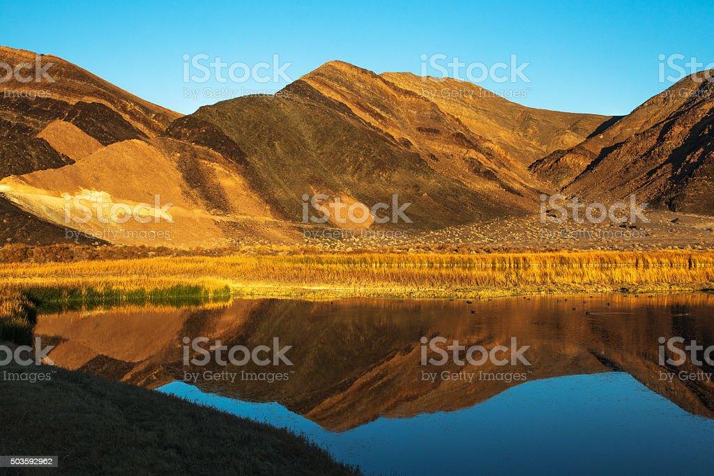 Ibex Hills - Saratoga Spring Death Valley National Park stock photo