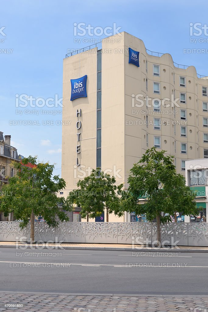 Ibis budget hotel in Bordeaux, France stock photo