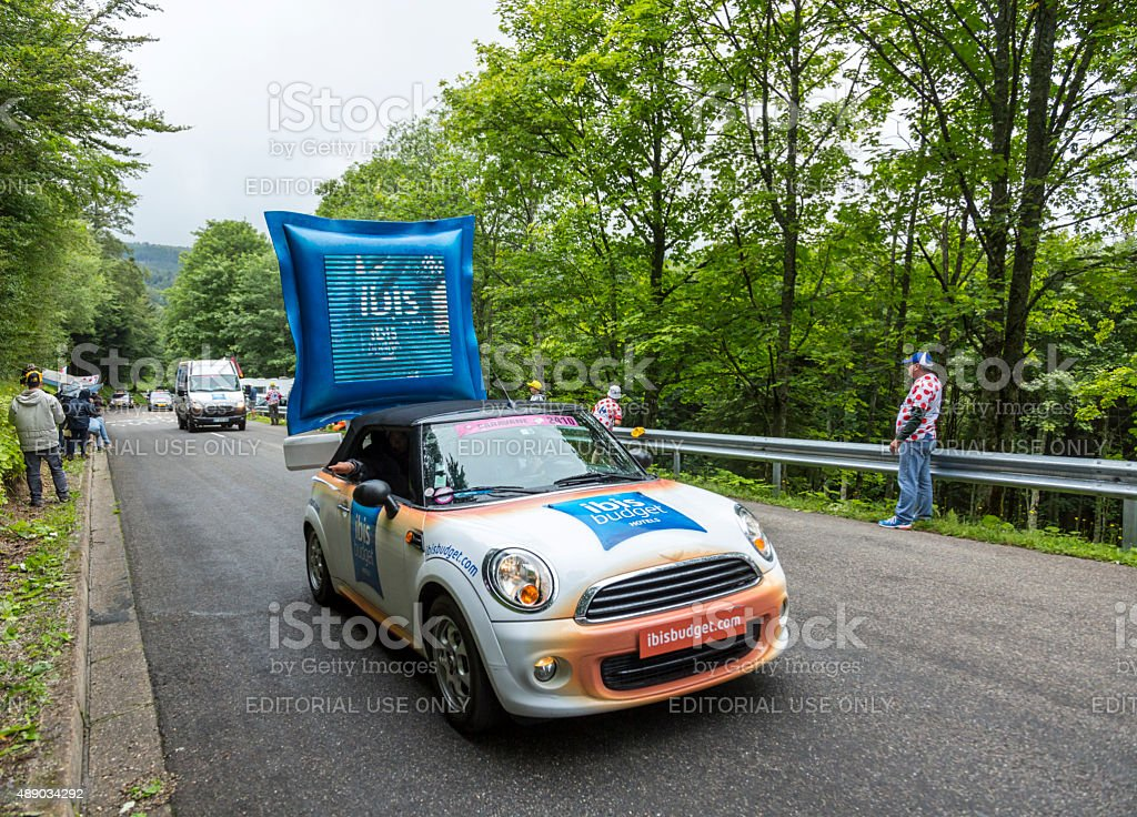 Ibis Budget Hotel Vehicle - Tour de France 2014 stock photo