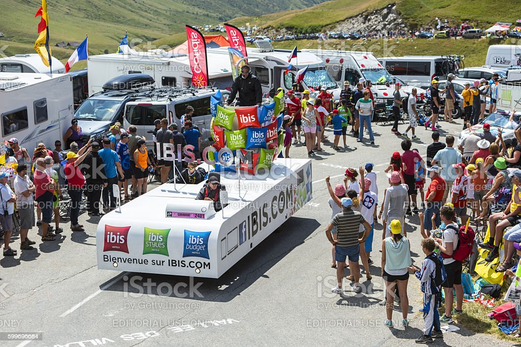 Ibis Budget Hotels Truck - Tour de France 2015 stock photo