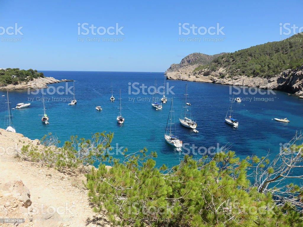 Ibiza Bay stock photo