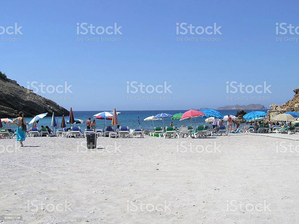 Ibiza beach royalty-free stock photo