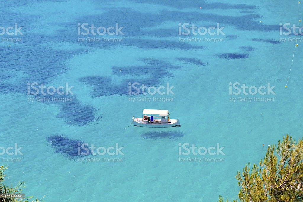 Ibiza Cala de Sant Vicent caleta San Vicente stock photo