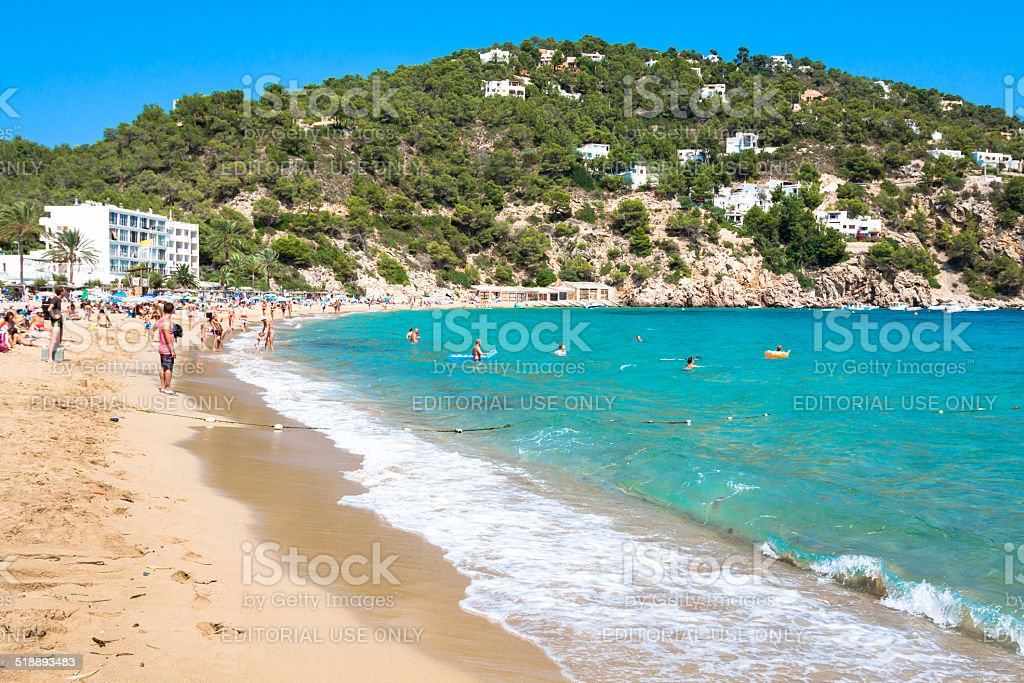 Ibiza Cala de Sant Vicent stock photo