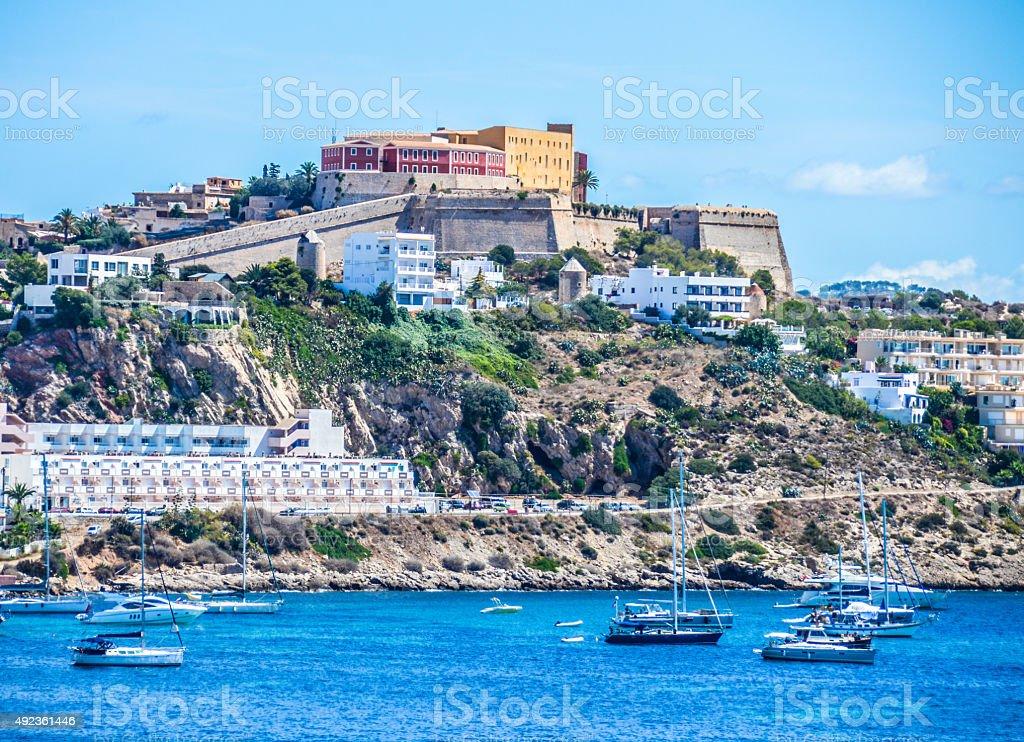 Ibiza Castle stock photo