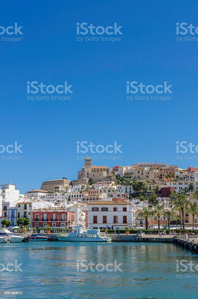 Ibiza Harbour stock photo