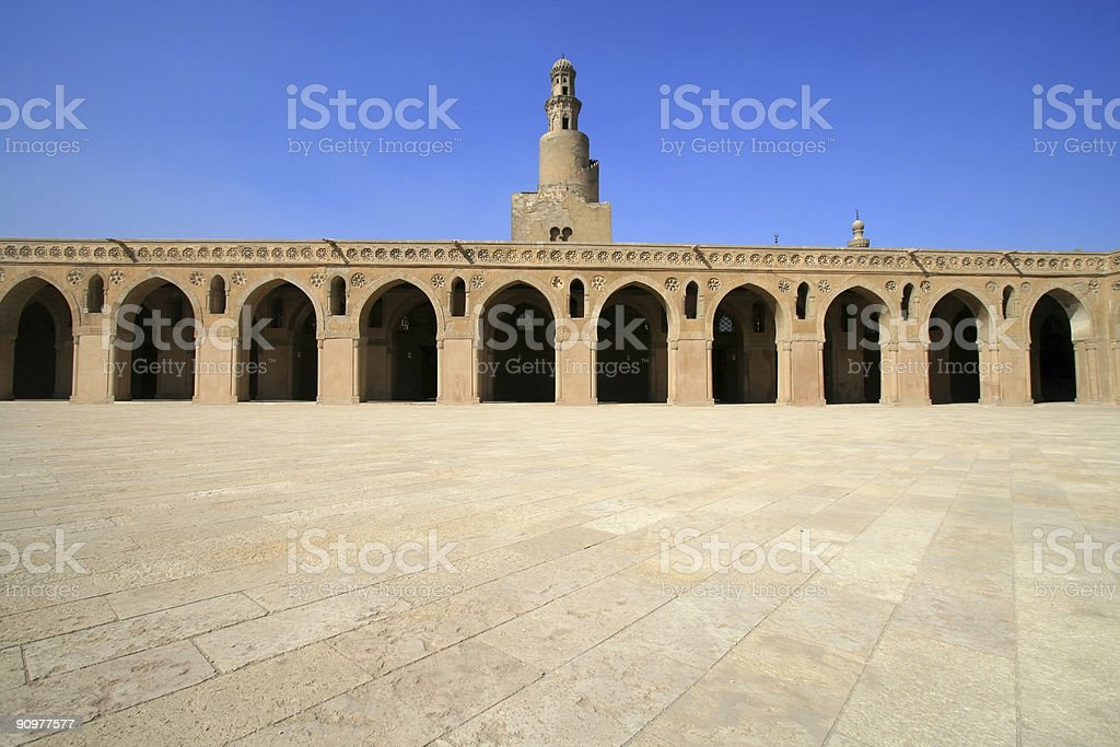 Ibn Tulun Mosque in Cairo, Egypt royalty-free stock photo